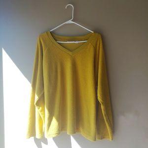 Denim + Co Mustard Yellow Sweatshirt